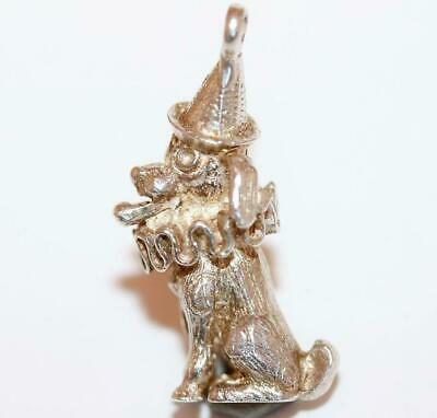 Rare Jester Toby Dog with Hat and Ruffle, Punch and Judy Vintage Bracelet Charm