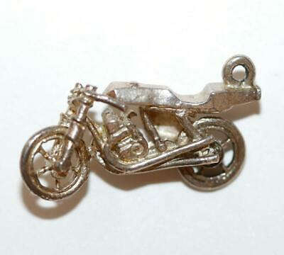 Motorcycle Sterling Silver 925 Vintage Bracelet Charm With Gift Box 1.8g
