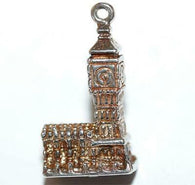 Chim Big Ben Clock Tower London Sterling Silver Vintage Bracelet Charm