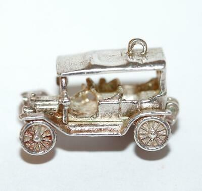 Opening Model T Touring Car Sterling Silver Vintage Charm With Gift Box, Size XL