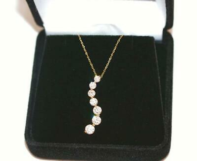 "New 14k Gold And CZ Drop Swirl Necklace 18"" by Cote d' Or"