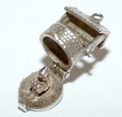Nuvo Wishing Well Opening To Pixie Elf Sterling Silver Vintage Bracelet Charm