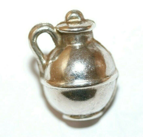 Milk Jug Pitcher Sterling Silver Vintage Bracelet Charm With Gift Box 1g