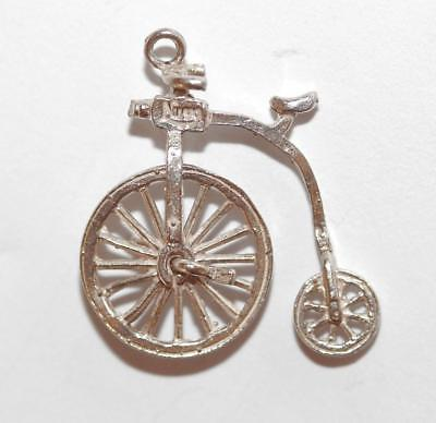 Nuvo Moving Bicycle Sterling Silver Vintage Bracelet Charm