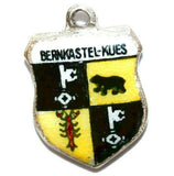 Bernkastel Germany Coat Of Arms 935 Silver Enamel Travel Shield Vintage Charm