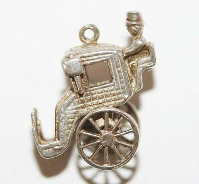 Moving Carriage Sterling Silver 925 Vintage Bracelet Charm 6.1g