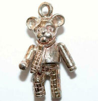 Rare Moving Rupert Bear Sterling Silver Vintage Bracelet Charm c1960's Not Repro