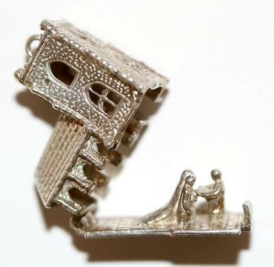 Church Opening To Bride And Groom 925 Sterling Silver Vintage Charm 7.6g