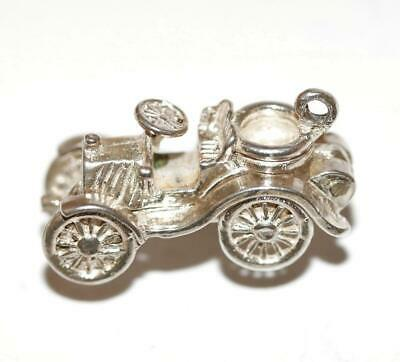 Opening Classic Car Sterling Silver 925 Vintage Bracelet Charm 4.4g