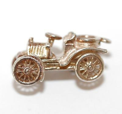 Opening Classic Car Sterling Silver 925 Vintage Bracelet Charm, Gift Box 4g