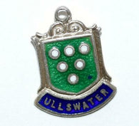 Ullswater, Lake District England Sterling Silver Enamel Travel Shield Charm