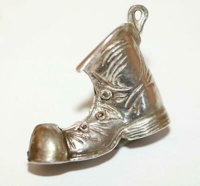 Old Lucky Boot Sterling Silver Vintage Bracelet Charm With Gift Box, Larger 5.5g