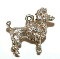 Retro Poodle Dog Sterling Silver Vintage Bracelet Charm With Gift Box 6.1g