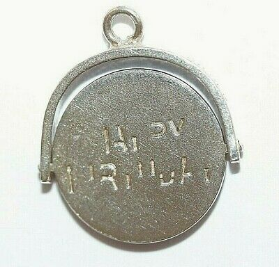Happy Birthday Moving Spinner Sterling Silver Vintage Charm With Gift Box 1.3g