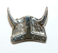 Vintage Sterling Silver 925 Viking Helmet Lapel Pin Brooch 3.9g