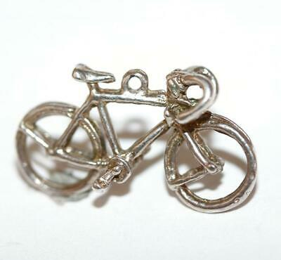 Bicycle Sterling Silver 925 Vintage Bracelet Charm With Gift Box 1.6g