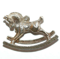 Rocking Horse Sterling Silver 925 Vintage Charm With Gift Box 2.2g