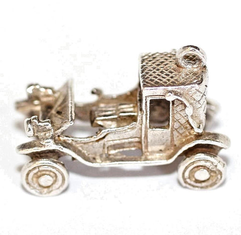 Moving Classic Car Sterling Silver 925 Vintage Bracelet Charm 6.8g