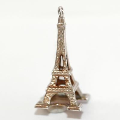Eiffel Tower Paris France 800 Silver Vintage Bracelet Charm