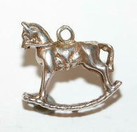 Rocking Horse Sterling Silver 925 Vintage Bracelet Charm With Gift Box 1.5g
