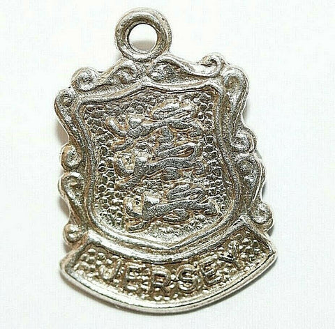 Jersey Channel Islands UK Sterling Silver Travel Shield Vintage Charm by AS