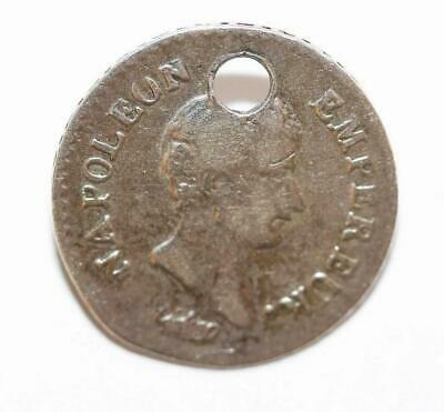 1803 Napoleon Bonaparte France 1/4 Franc Quart Silver Coin Charm (Genuine)