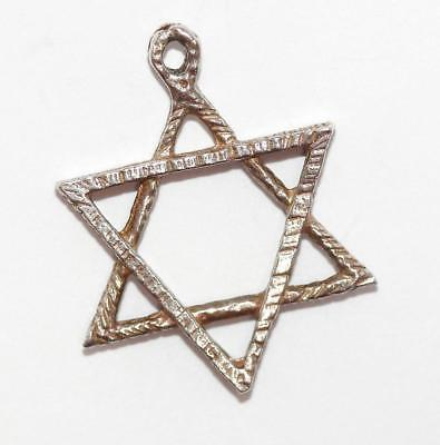 Star of David Sterling Silver Vintage Bracelet Charm Pendant