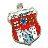 Konigswinter Germany 800 Silver Enamel Travel Shield Vintage Charm by SR