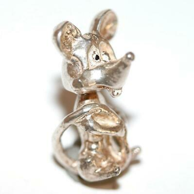 Rare Moving Mouse Bobble Head Sterling Silver Vintage Charm With Gift Box 5g