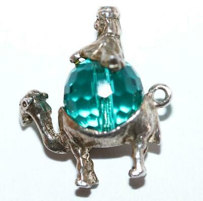 Rare Christmas Nativity Wise Men Camel Sterling Silver Crystal Vintage Charm