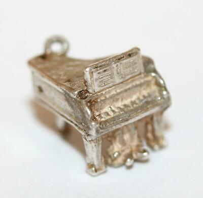 Small Grand Piano Sterling Silver Vintage Bracelet Charm With Gift Box 2.3g