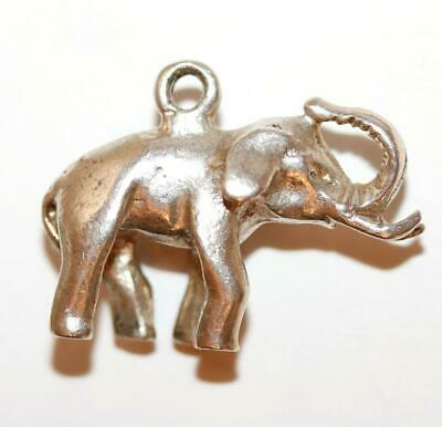 Lucky Elephant Sterling Silver 925 Vintage Bracelet Charm With Gift Box 6.2g