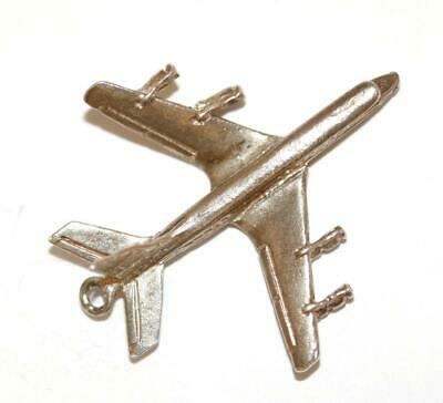 Airplane Sterling Silver Vintage Bracelet Charm Pendant With Gift Box 2.7g