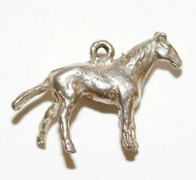 Solid Sterling Silver 925 Horse Vintage Bracelet Charm With Gift Box 2.5g