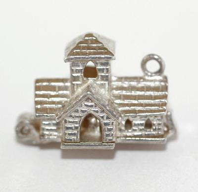 Wedding Church Sterling Silver Vintage Bracelet Charm  3.6