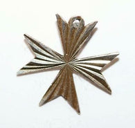 Maltese Cross Sterling Silver Vintage Bracelet Charm Pendant With Gift Box