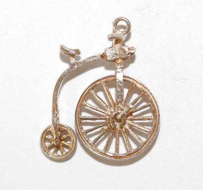 Nuvo Moving Penny Farthing Bicycle Sterling Silver Vintage Charm