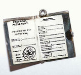 Opening British Passport With Papers Sterling Silver Vintage Bracelet Charm 3.2g