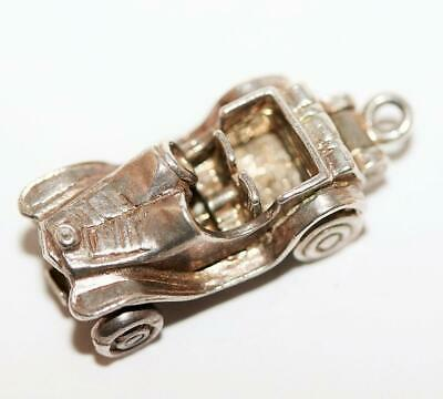 Opening British Sports Car Sterling Silver Vintage Bracelet Charm 6.3g