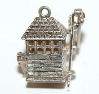 Rare Nuvo Moving Railroad Train Signal Box Sterling Silver 925 Vintage Charm