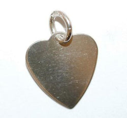 Heart Tag by AJLd Sterling Silver Vintage Bracelet Charm Pendant With Gift Box