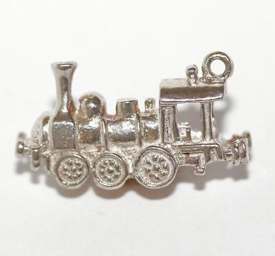 Train Locomotive Sterling Silver Bracelet Charm 3.6g