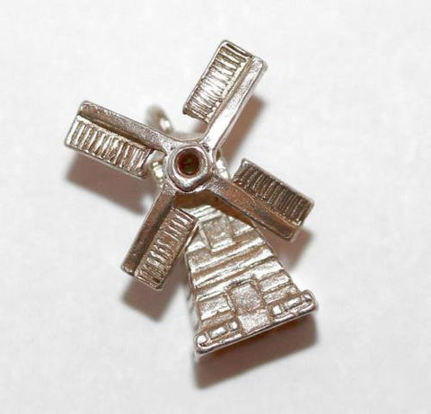 Nuvo Moving Windmill Sterling Silver Vintage Bracelet Charm