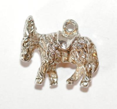 Pack Mule Burro With Saddle Sterling Silver Vintage Bracelet Charm 2.3g
