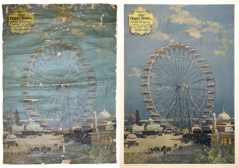 Poster-Conservation-and-Poster-Conservation-At-Poster-Plus_Columbian-Exposition-Ferris-Wheel
