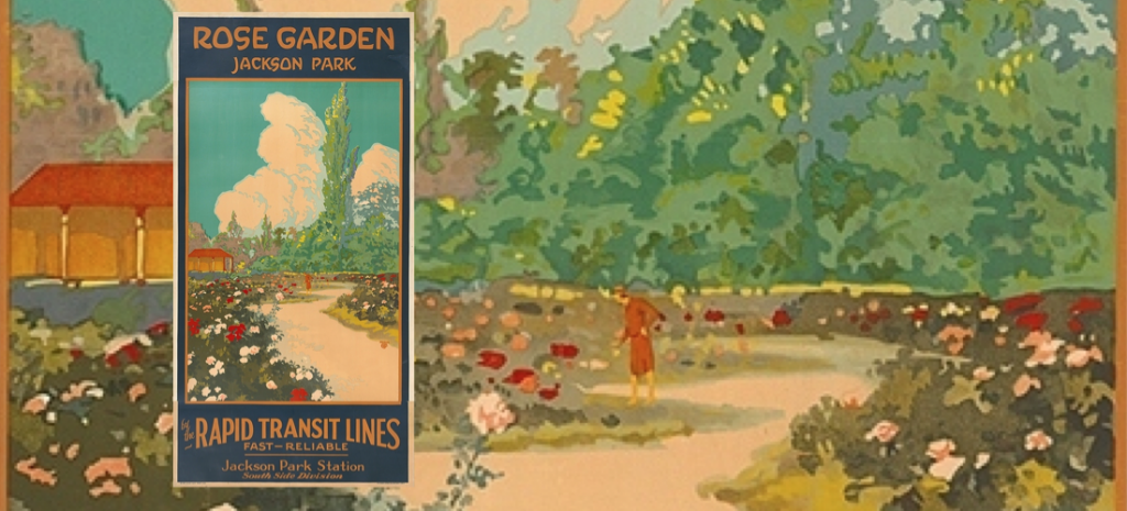 Old Travel Poster reproduction St James park