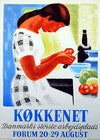 Kokkenet Danish kitchen poster original