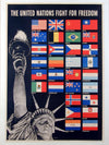 Original WWII poster - THE UNITED NATIONS FIGHT FOR FREEDOM by Broder