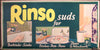 RINSO SUDS FOR BATHTUBS, DISHES ....c1925 original Trolley Card poster