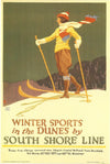 Oscar Rabe Hanson - Winter Sports in the Dunes by the South Shore Line
